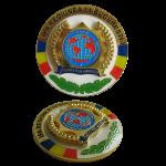 Medalie in doua planuri cu email lichid